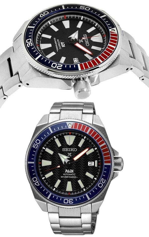 【SEIKO】 セイコー プロスペックス PROSPEX PADI パディコラボ サムライ 自動巻 メンズ 腕時計 200m防水 ダイバーズウォッチ SRPB99K1