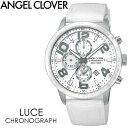 【送料無料】ANGEL CLOVER エンジェルクローバー LUCE 腕時計 ウォッチ メンズ 男性用 クオーツ 10気圧防水 クロノグラフ lu44swhwh