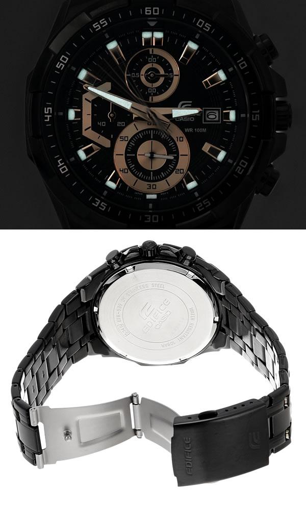 【マラソンSALE】【】CASIO カシオ EDIFICE エディフィス クオーツ 腕時計 ウォッチ メンズ 男性用 クロノグラフ 10気圧防水 EFR-539BK-1A2