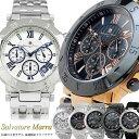 Salvatore Marra サルバトーレマーラ 腕時計 メンズ クロノグラフ SM8005 ステンレス 革ベルト 人気 ブランド ウォッチ 父の日 ギフト