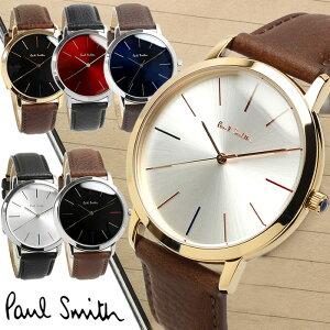 【アフターセール】ポールスミス Paul Smith 腕時計 メンズ 革ベルト MA 41mm レザー クラシック ブランド 人気 ウォッチ ギフト プレゼント P10051 P10052 P10053 P10056 P10057 P10091