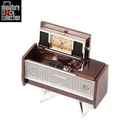 ミニチュア クロック 置時計 レコードプレーヤー型 おしゃれ 小さい アナログ 卓上 インテリア デザイン かわいい 雑貨 C3188-BR 父の日 ギフト