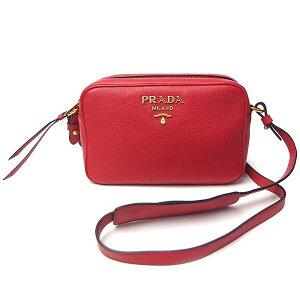 Prada Bag Ladies PRADA 1BH093 VITELLO DAINO ROSSO Red