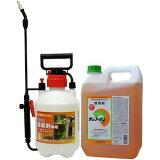 【サンフーロン液剤 5L+噴霧器セット】グリホサート 農薬【送料無料】 【北海道・沖縄・離島配送不可】