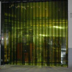 害虫侵入防止 異物混入を防止 オプトロンカーテン2-300L(2mm厚×300mm幅) 30m巻 リブ付防虫カーテン