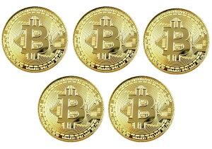 ビットコイン Bitcoin レプリカ 5枚セット メダル 仮想通貨