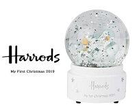 Harrods ハロッズ 2019年限定 スノードーム オルゴール付き スノーグローブ クリスマス サイレントナイト ペンギン My First Christmas Snow Globe 2019