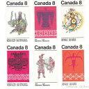 カナダ切手 インディアンの文化 3種6枚【メール便配送(ポスト投函)、代引不可】