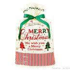 クリスマス クラシカル リボン付き バッグ (XL 1枚 サイズ:横46cm×縦70cm(紐下52cm)×底マチ10cm)【メール便可】【返品・キャンセル不可】ch