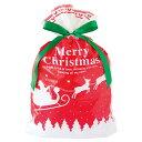 メリークリスマス リボン付きバッグ (M) 1枚 横24cm...