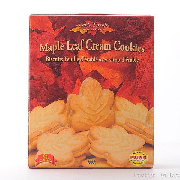 ★メープルテルワー<br>メープルリーフ クリームクッキー 350g24枚入 1箱<br>メープルシロップの風味豊なクリームがサンドされています。
