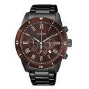 腕時計 ビジネス カジュアル クロノグラフCITIZEN シチズン AN8167-53Xクォーツ メンズ ダークカラー ブラック 並行輸入 新生活
