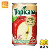 〔送料無料〕キリン トロピカーナ100% アップル 160g 缶 30本入