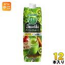 カゴメ 野菜生活100 スムージー グリーンスムージーMix 1000g 紙パック 12本 (6本入...