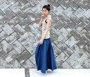 【 Aデニムスカート 】レディース ボトムス スカート デニム ロング マキシ 5サイズ 骨盤の下から広がるキレイなAライン 5oz 4.5oz 二種の布を使ったこだわりデザイン 2