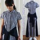 ♪モデル大絶賛♪ 夏用ダブルシャツ風 マキシワンピシャツ ワンピース ロング 半袖着丈130cm ML2サイズ