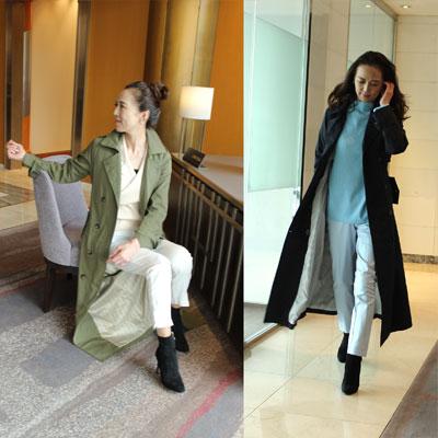 トレンチコートマキシ 着丈約130cmレディースファッションアウターコート羽織り着回し楽しい