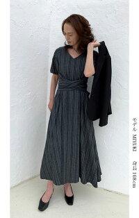 スクイーズワンピースコットンサマードレス