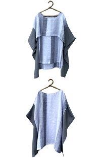 【ケープリネンブラウスSleevelessinside】中はノースリーブストールを羽織ったようなカタチレディースファッショントップスブラウス