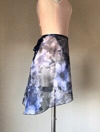 【4柄】バレエスカート花柄ジュニア&大人用トゥリーナラップスカート(クラシックタイプ)巻きスカートレッスン用