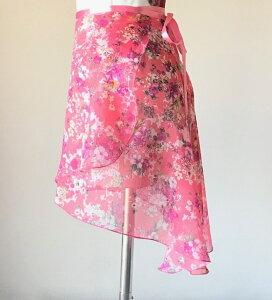 66808c67557b1 バレエスカート 花柄 ジュニア&大人用 トゥリーナラップスカート(クラシックタイプ) 巻き
