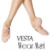 【WearMoiウェアモア】VESTAヴェスタ標準幅スプリットストレッチキャンパスバレエシューズ(標準幅タイプ)キャンバススプリットソールバレエシューズシューズバレエ
