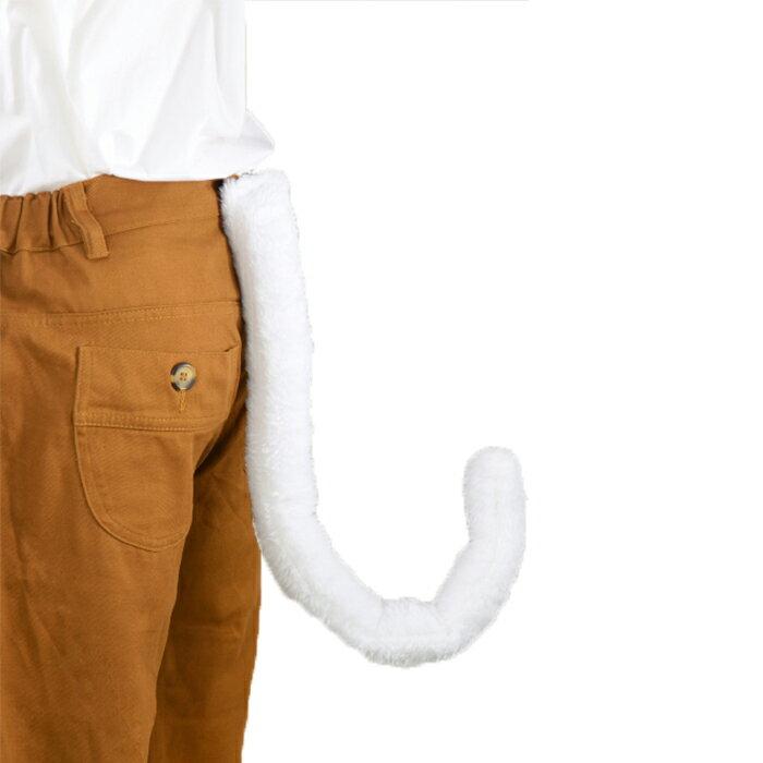 もこもこ猫しっぽ ☆ハロウィン小物☆ ひも留め ファー ねこ ネコ キャット ブラック ホワイト 黒 白 小道具 イベント クリスマス画像