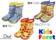 Kids Foret(キッズフォーレ)電車柄・リンゴ柄レインシューズ(15cm-20cm)レインブーツ・長靴・キッズレインシューズ