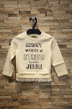 【セール20%OFF】シスタージェニー(SisterJenni)天竺長袖Tシャツ(アイボリー)(90cm・100cm)