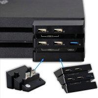 [送料無料]PS4ProのUSBポートが足りない方にオススメPS4プロ用USBハブ5XUSB3.0x12.0x4HUBforPS4consoleCUH-7200シリーズ対応CameraMovenasneUSBバブHDD追加WEBカメラ接続モーションコントローラー充電コントローラー機器充電などに大活躍