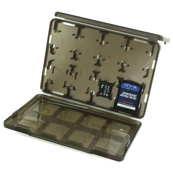 最大20枚収納 PSvita用カード/メモリーカードを折畳収納 なカードケース大容量なのに薄型軽量クリア素材で収納したまま