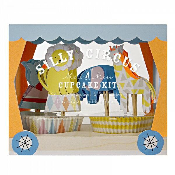 【merimeri silly circus】動物パーティーにかわいいケース&ケーキトッパー 24