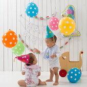 1歳バースデーパーティーグッズキャンドル&フェザーハット&バルーン&バナーセット女の子
