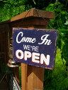 自分のお店を外国風に演出したいショップオーナーさんに!営業中とお休み中の木製看板 ★ウッ...