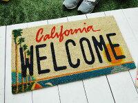 アメリカンライセンスプレートのココマット(カリフォルニア)★アメリカ雑貨★アメリカン雑貨