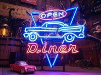 ダイナーオープンのネオン管★アメリカ雑貨★アメリカン雑貨
