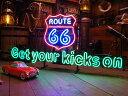 【全国送料無料】【即納】【在庫あり】【※代引発送不可】Get your kicks on ルート66のネオン管 「楽天1...