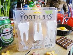 歯の爪楊枝 トゥースピック 24個入り ■ アメリカ雑貨 アメリカン雑貨