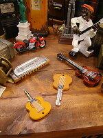 ギターのキーカバー2個セット(ブラウン)★アメリカ雑貨★アメリカン雑貨