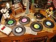 楽しい音楽がきこえてくる♪ レコードコースター 6枚セット ■ アメリカ雑貨 アメリカン雑貨 通販 こだわり派が夢中になる! 人気のアメリカ雑貨屋 インテリア 生活雑貨 おもしろ雑貨 グッズ アメリカ 雑貨