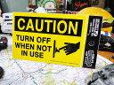 節電ステッカー(注意/イエロー) ■ アメリカ雑貨 アメリカン雑貨 世...