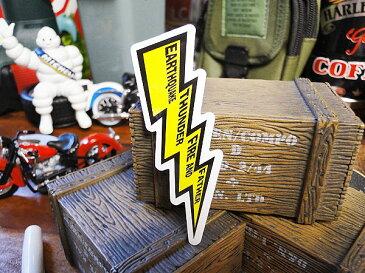 コトワザステッカー(地震・雷・火事・オヤジ) ■ 自分仕様だから愛着も強くなる! こだわり派が夢中になる人気のアメリカ雑貨屋 ステッカー おしゃれ おもしろ アメリカン雑貨 車 バイク スーツケース デカール シール オリジナル アルファベット レトロ