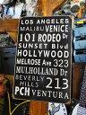 ロサンゼルスの名所のU.S.ヘヴィースチールサイン ■ アメリカ雑貨 アメリカン雑貨 アメ雑貨 アメ雑 壁掛け 壁飾り 人気 壁面装飾 内装 スティールサイン アメリカ 雑貨 おしゃれ レトロ ポスター