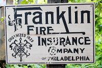 昔のアドバタイジングのウッドサイン(フランクリンファイヤー)★アメリカ雑貨★アメリカン雑貨