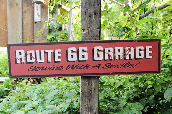 昔のルート66のウッドサイン(ルート66ガレージ)★アメリカ雑貨★アメリカン雑貨