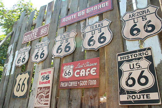 昔のルート66のウッドサイン(ルート66ガレージ)★木製ウッドアメリカ看板サインプレートサインボードアンティークアメリカン雑貨アメリカン雑貨