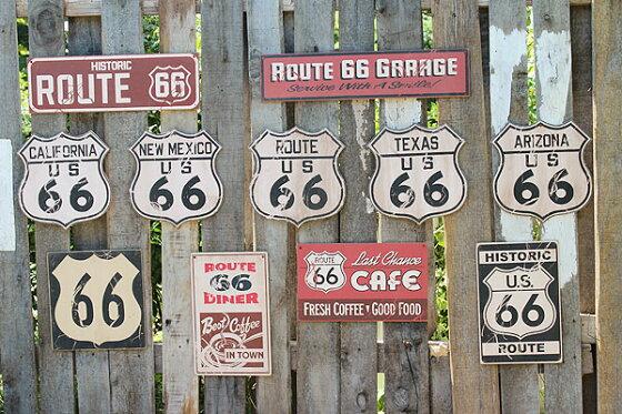 昔のルート66のウッドサイン(ルート66/ルート)★木製ウッドアメリカ看板サインプレートサインボードアンティークアメリカン雑貨アメリカン雑貨