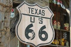 人気のアドシリーズ第四弾が待望の新入荷!昔のルート66のウッドサイン(ルート66/テキサス) ...