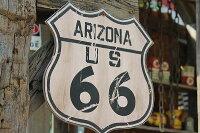 昔のルート66のウッドサイン(ルート66/アリゾナ)★アメリカ雑貨★アメリカン雑貨