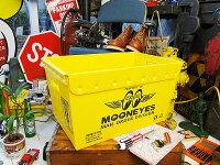 ムーンアイズのストレージボックス(ウイングロゴ)★アメリカ雑貨マイカゴ★アメリカン雑貨買い物カゴ